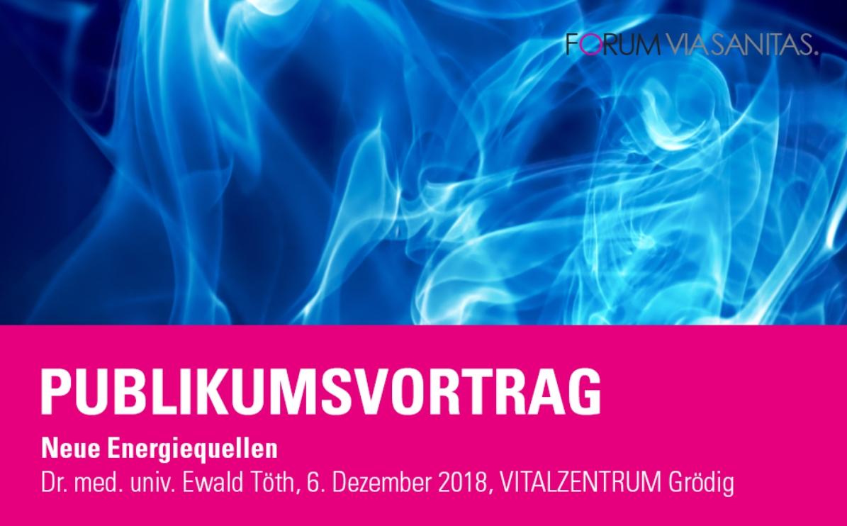 Publikumsvortrag Dr. Ewald Töth
